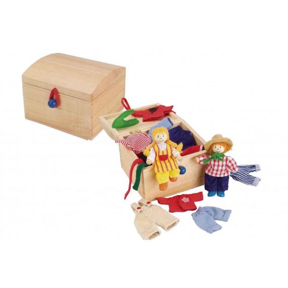 Birte et Ben : poupées en bois à habiller
