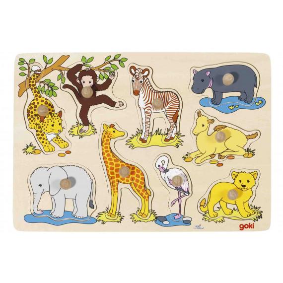 Puzzles à encastrement Bébés Animaux africains