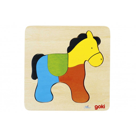 Puzzle Cheval en bois