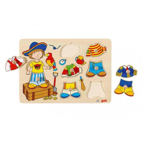 Puzzle à boutons : petit pirate à habiller