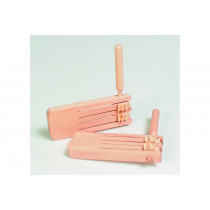 Crécelle double en bois
