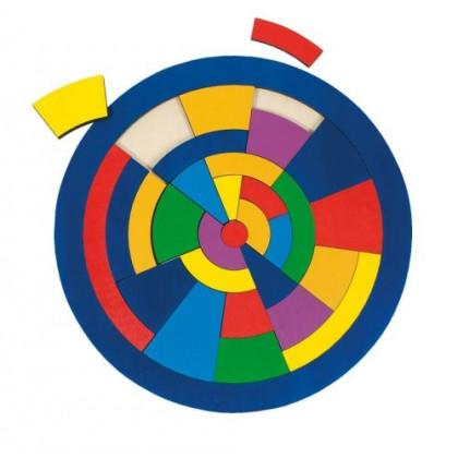 Puzzle circulaire en bois (29 pièces)