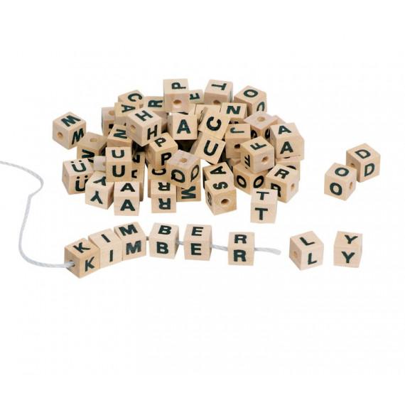 Perles Alphabet en bois (300 perles)