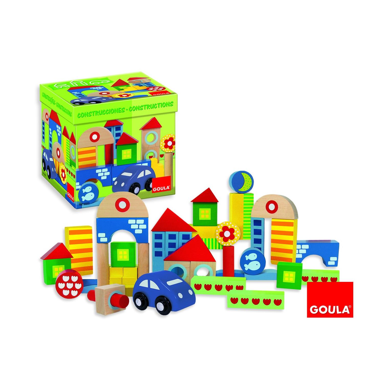 Boîte 40 blocs de construction + voiture