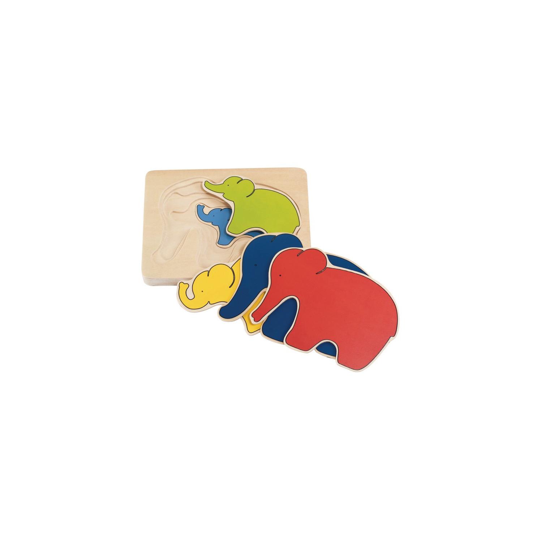 Puzzle Ours, puzzle-gigogne à 5 couches