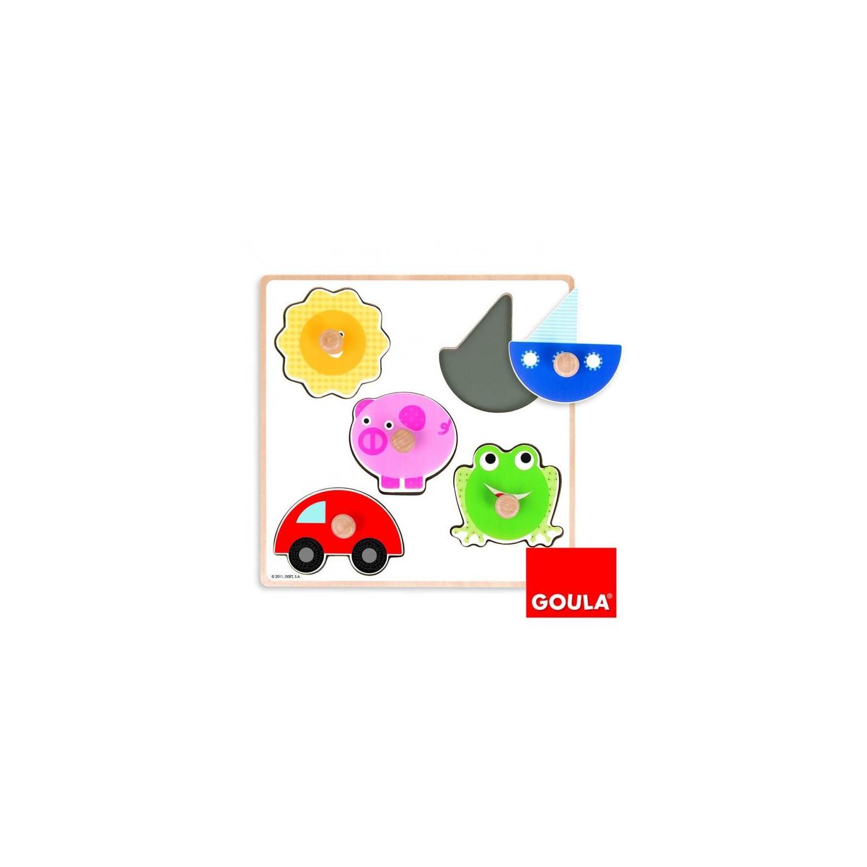 Puzzle encastrement 5 couleurs (5 pièces)