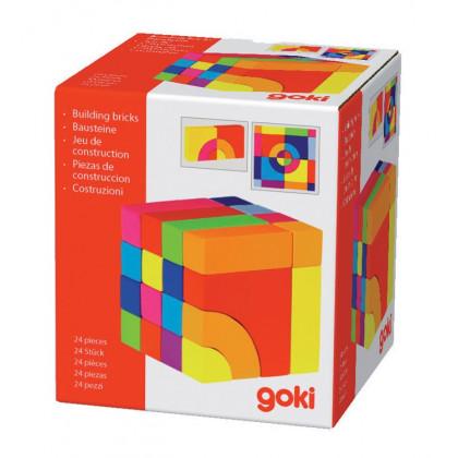 Casse-tête puzzle multicolore en bois