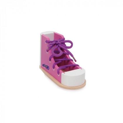 Chaussure à lacer rose
