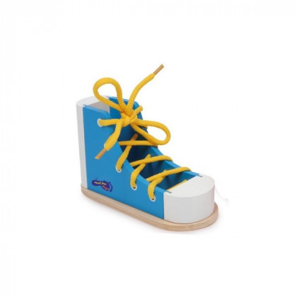 Chaussure à lacer bleue