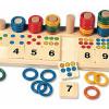 Anneaux colorés : matériel pour compter