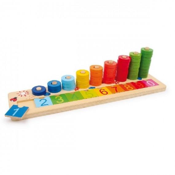 Encastrement - Table à calcul en bois