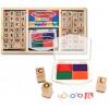 Coffret de tampons Alphabet en bois