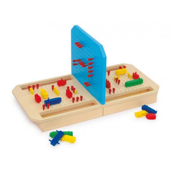 Jeu de bataille navale en bois
