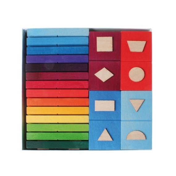 Dominos de formes géométriques en bois