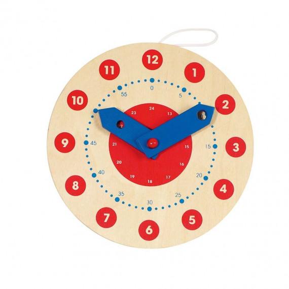 Horloge pédagogique en bois