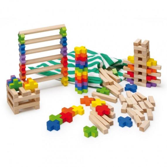 Jeu de construction en bois (150 pcs)