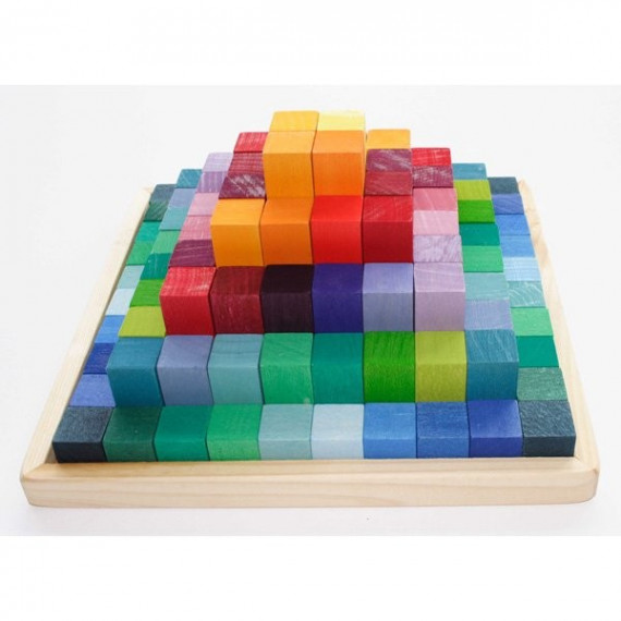 Jeu de construction Pyramide 100 cubes