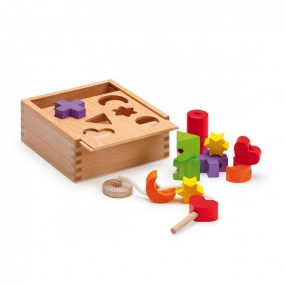 Boîte d'activité en bois