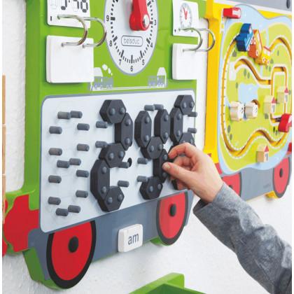 Jeu mural Train : horloge