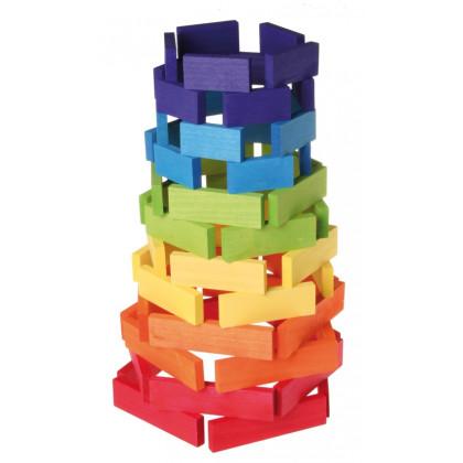 Planchettes de construction multicolores
