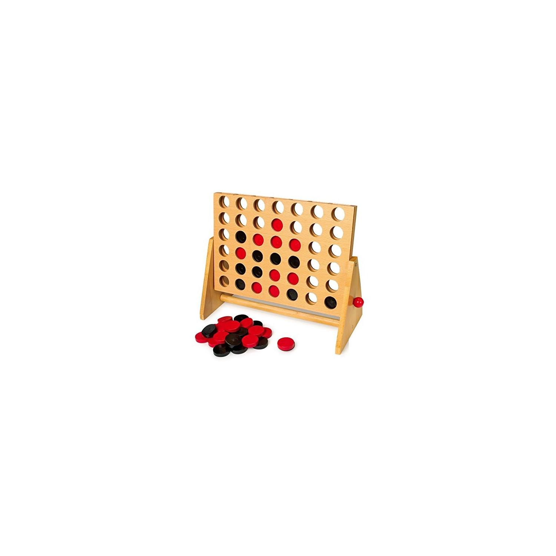 Grand jeu de puissance 4 en bois