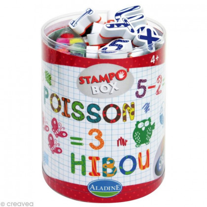 Tampons Lettres et chiffres Stampo Box