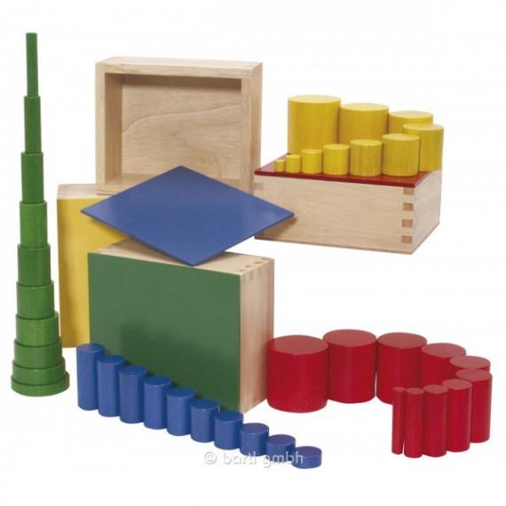 Set de cylindres de colorés Montessori