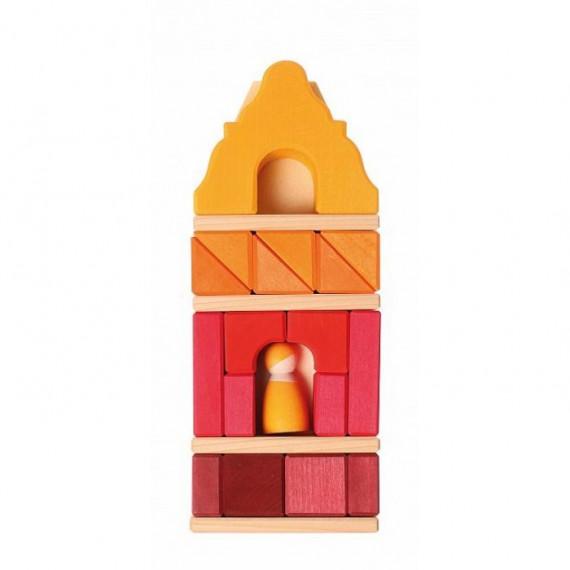Maison cubes rouge