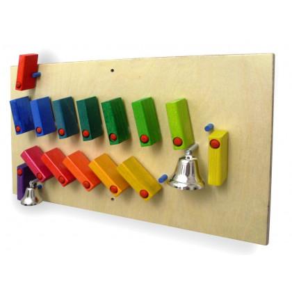 Jeu mural Dominos avec clochettes