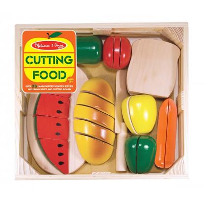 Plateau d'aliments en bois à couper (velcro)