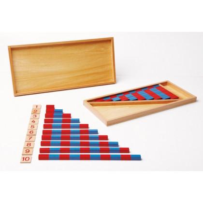 Petites barres numériques Montessori