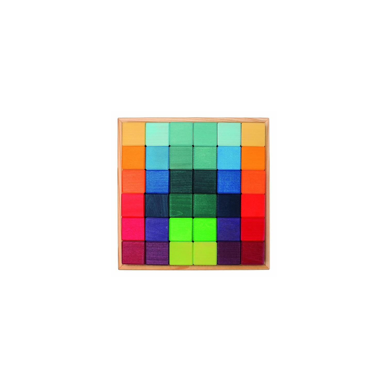 Carré de 36 cubes en bois écologique