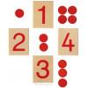 Jeu des nombres et des jetons Montessori