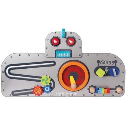 Jeu mural en bois Robot