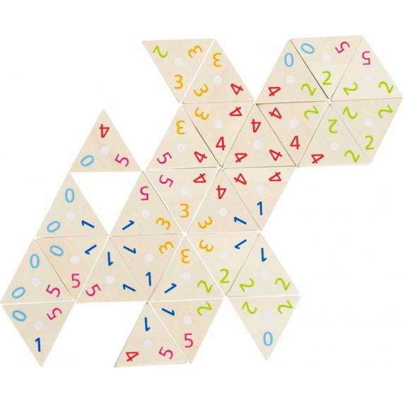 Dominos triangulaires avec chiffres