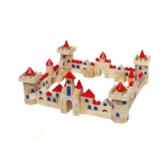 Jeu de construction Château, 145 pièces en bois