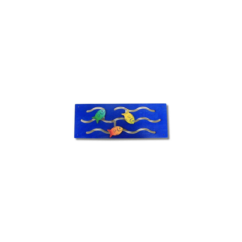 Panneau mural bleu Poissons