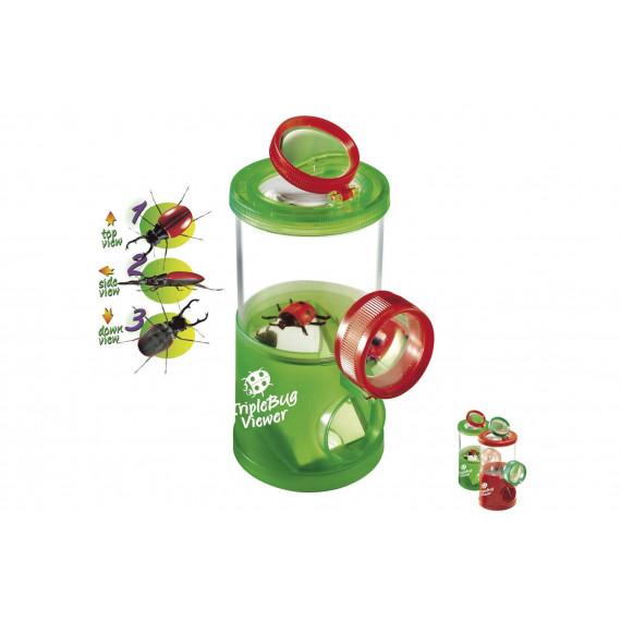 Boîte Triple Loupes pour observer les insectes