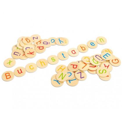Jetons Lettres de l'alphabet en bois