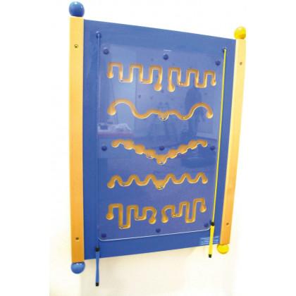 Grand jeu mural Rallye magnétique bleu