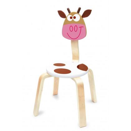 Chaise enfant en bois Vache