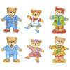 La famille Ours en bois à habiller