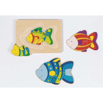 Puzzle gigogne : Les poissons