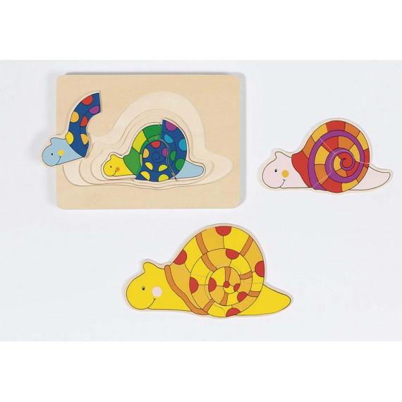 Puzzle gigogne : Les escargots